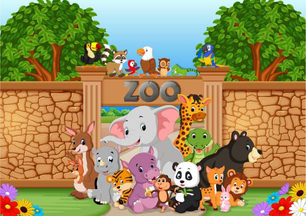 zoo und tiere in einer wunderschönen natur - ameisenbär stock-grafiken, -clipart, -cartoons und -symbole