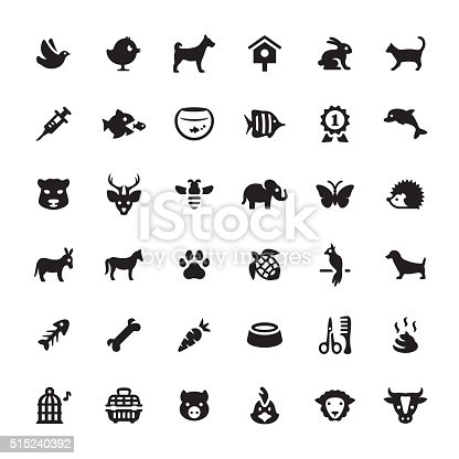 Zoo and Pets related symbols and icons.