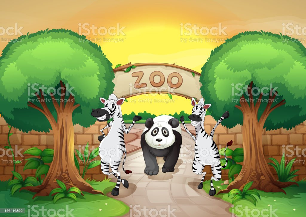 Zoo and the animals royalty-free stock vector art