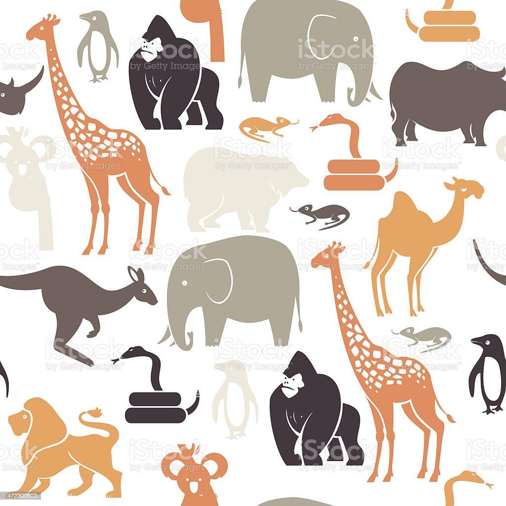 Zoo Animal Pattern vector art illustration