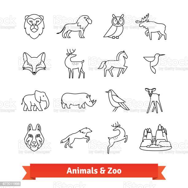 Zoo animals and birds thin line art icons set vector id672011998?b=1&k=6&m=672011998&s=612x612&h=gjkjvug0wp34hkwkkf8qo yba3pgrxbmfto3efijwew=