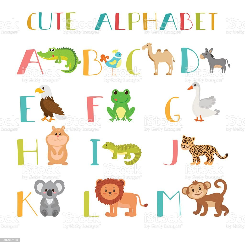 zoo cute cartoon animals alphabet from a to m stock illustration download image now istock https www istockphoto com vector zoo cute cartoon animals alphabet from a to m gm587947120 100965199