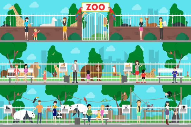 動物園のインテリア セットです。 - 動物園点のイラスト素材/クリップアート素材/マンガ素材/アイコン素材