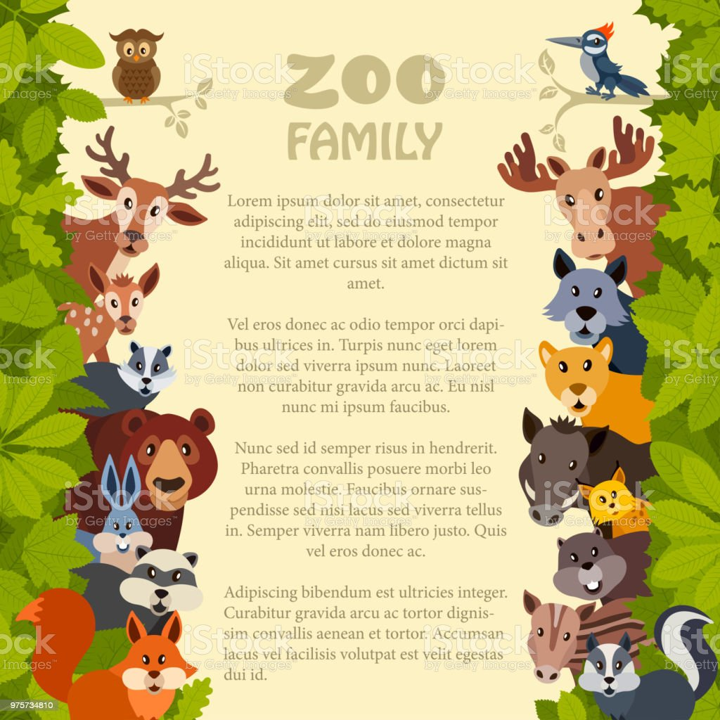 Zoo Invitation Stock Vector Art More Images Of Animal 975734810