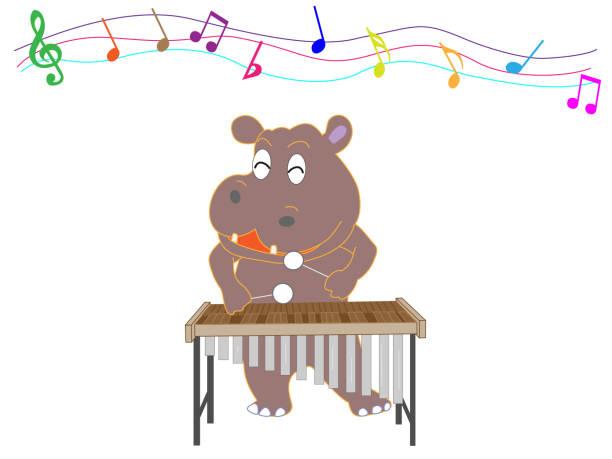 zoo music – artystyczna grafika wektorowa