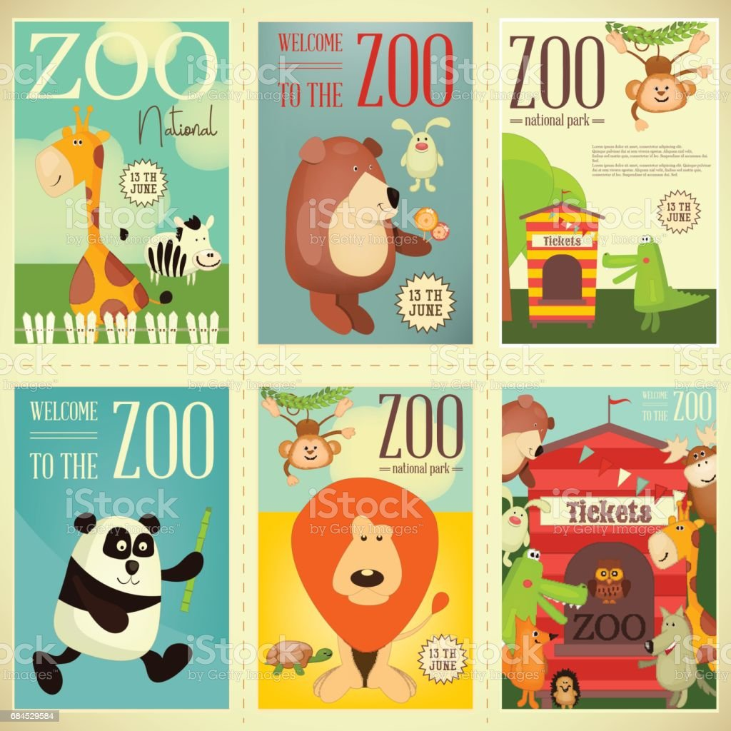 Zoo Park Posters vector art illustration