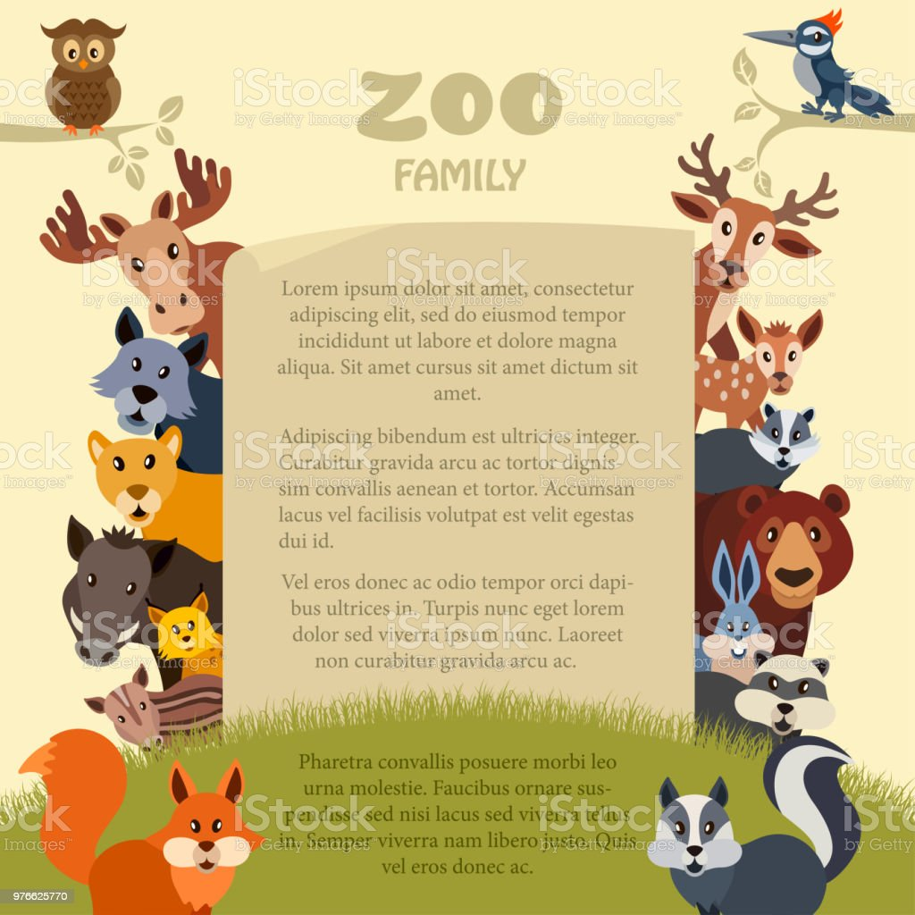 Zoo Party Invitation Stock Vector Art More Images Of Animal