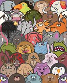 Seamless composition of a large group of animals.