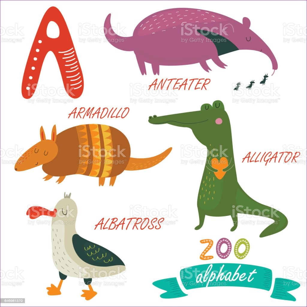 zooalphabeta vector art illustration