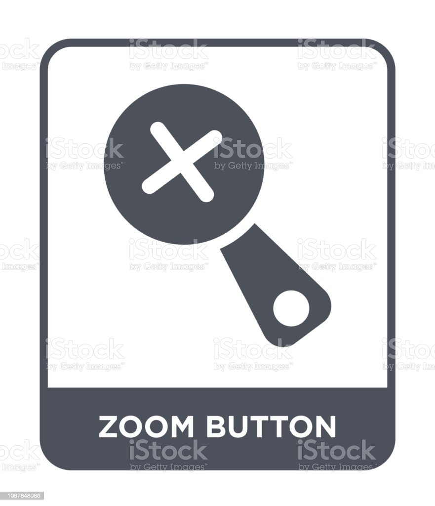 zoom button icon vector on white background, zoom button trendy filled icons from Ultimate glyphicons collection vector art illustration