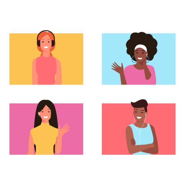 African American Sisters Illustrations, Royalty-Free