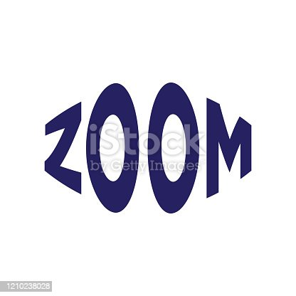 zoom letter logo design vector perspective zoom typography graphic symbol