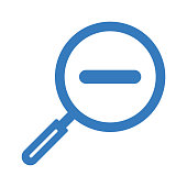 istock Zoom out blue icon, minimize, vector graphics 1239300575