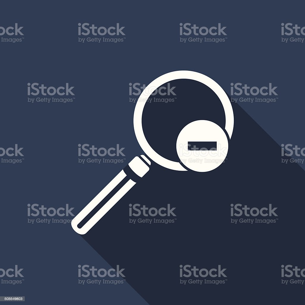 zoom out icon royalty-free stock vector art