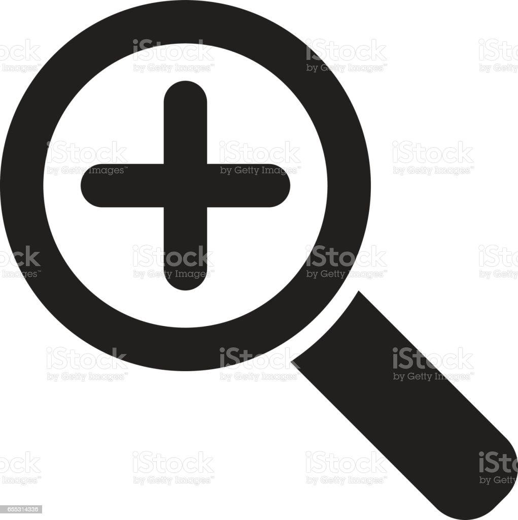 Zoom symbol vector art illustration