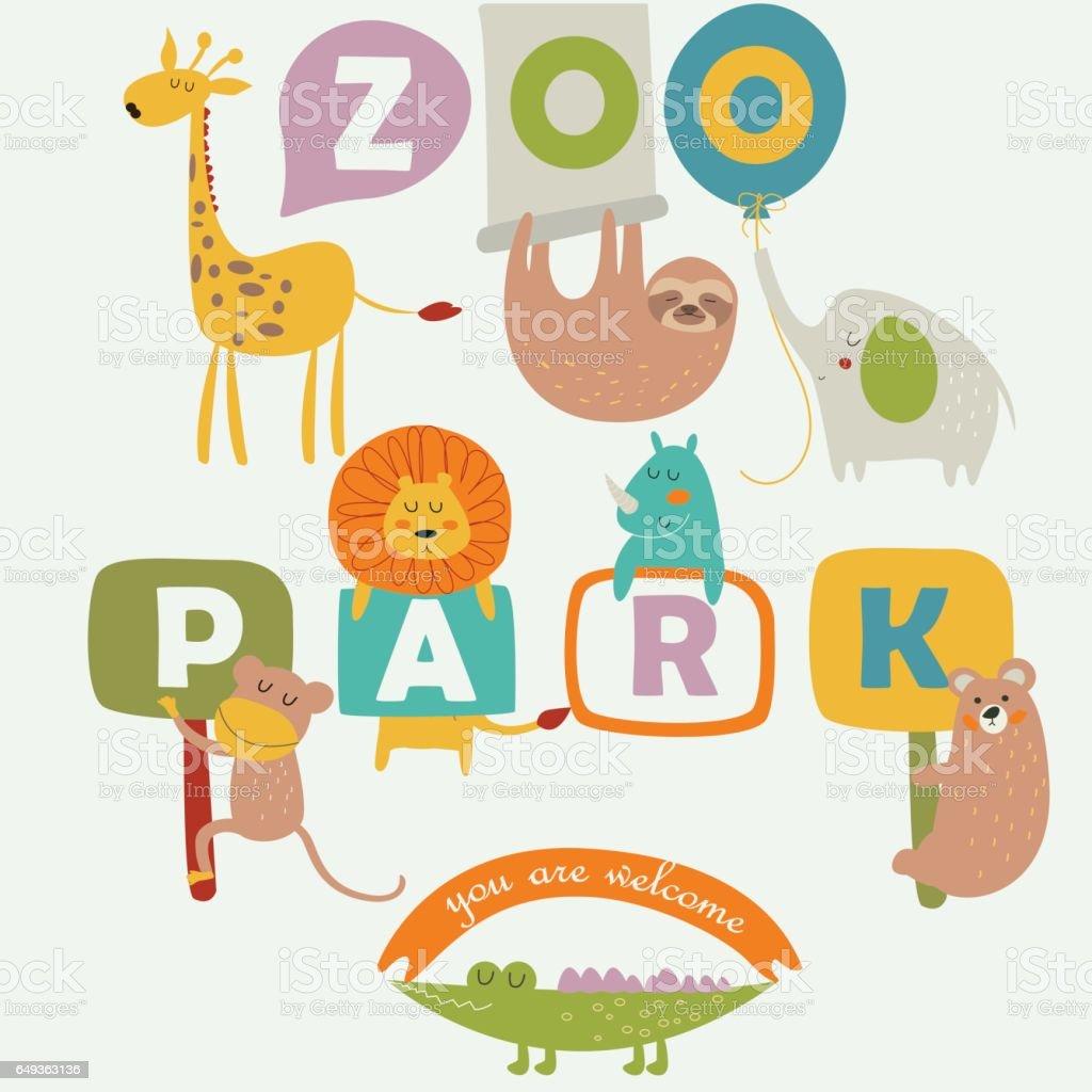 zooparktender vector art illustration