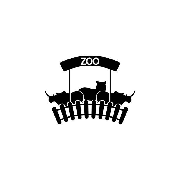 動物園のロゴのアイコン。携帯の概念と web アプリの動物アイコンの要素。web とモバイルの詳細な動物園のロゴのアイコンを使用できます。 - 動物園点のイラスト素材/クリップアート素材/マンガ素材/アイコン素材