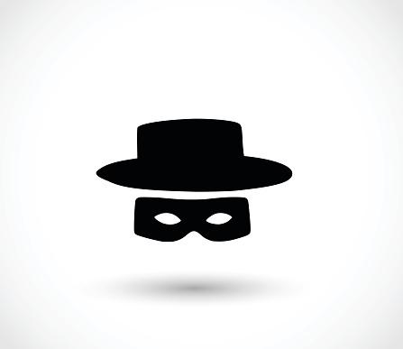 Zorro mask icon vector illustration