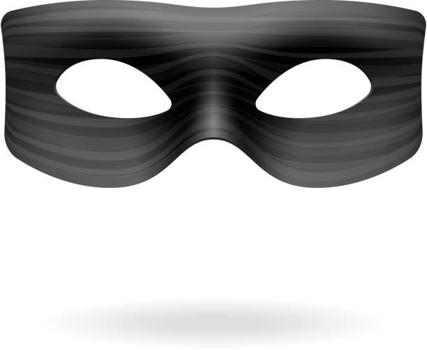 Máscara de el Zorro - ilustración de arte vectorial