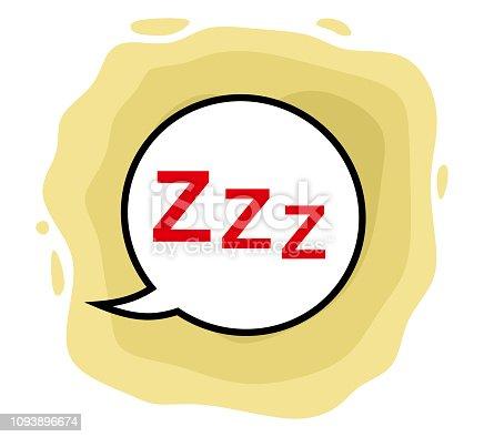 Zzz vector illustration