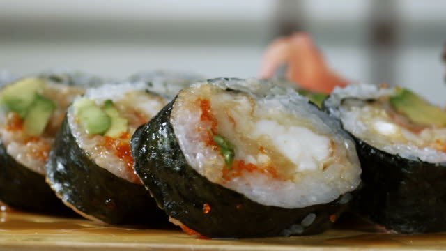 SUSHI ROLL-LOBSTER-1080HD video