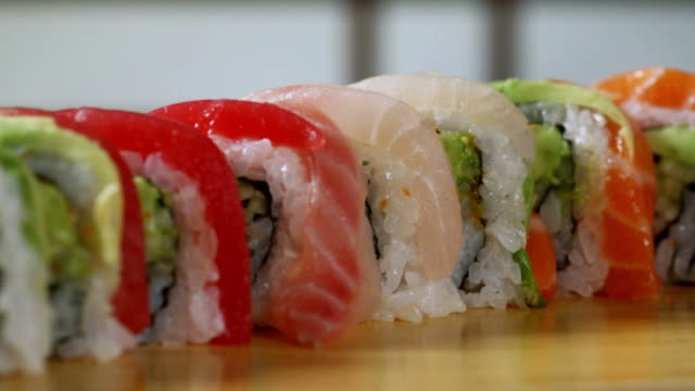 SUSHI ROLL-RAINBOW-1080HD video