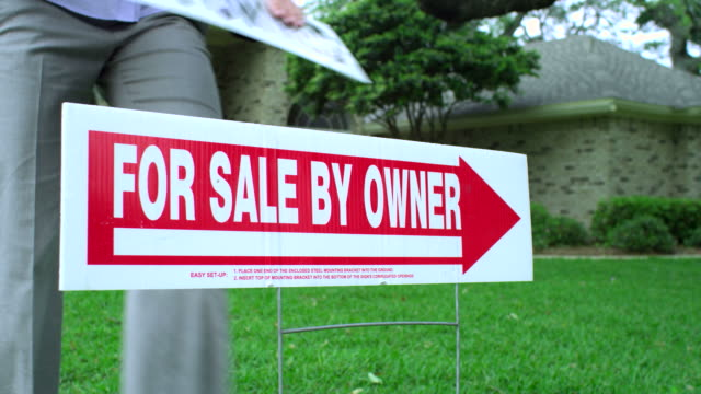 FORECLOSURE REALTY SIGN--BANK OWNED-1080HD video