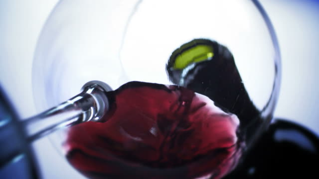 RED WINE POUR-LOW ANGLE-1080HD video
