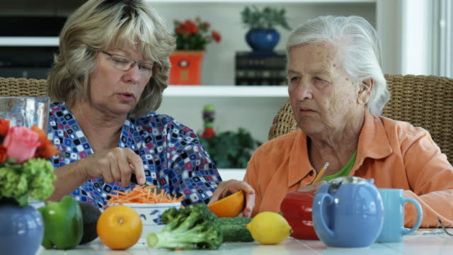 ELDERLY WOMAN AND NUTRITION-1080HD video