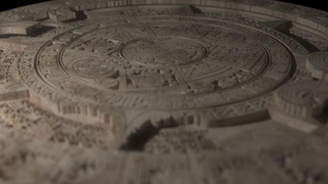 maya kalender mackro statisk - forntida bildbanksvideor och videomaterial från bakom kulisserna