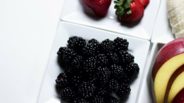FRUIT TRAY-HEALTHY FOOD-1080HD video