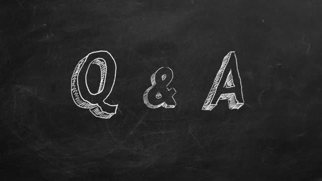 "Q & A Hand drawing and animated text ""Q & A"" on blackboard. Stop motion animation. faq stock videos & royalty-free footage"