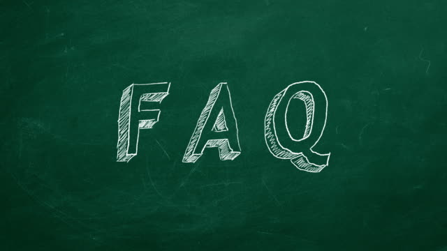 "FAQ Hand drawing and animated text ""FAQ"" on green chalkboard. Stop motion animation. faq stock videos & royalty-free footage"