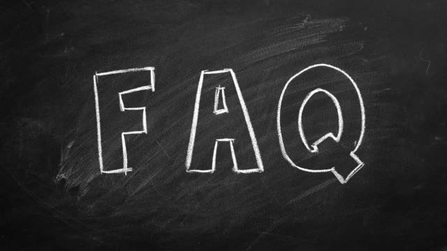 "FAQ Hand drawing and animated text ""FAQ"" on blackboard. Stop motion animation. faq stock videos & royalty-free footage"