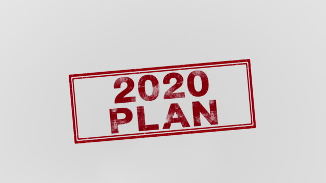 2020 PLAN a detailed proposal for doing or achieving something business symbols stock videos & royalty-free footage