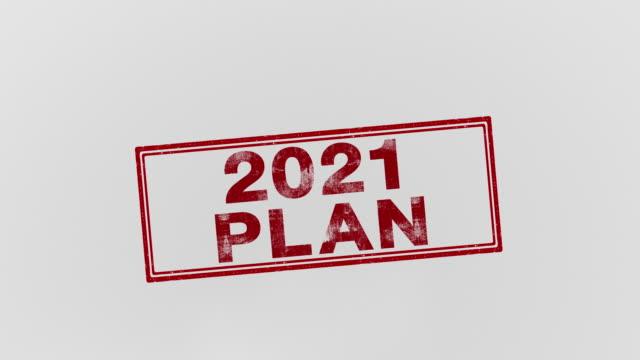 stockvideo's en b-roll-footage met 2021 plan - marketing planning