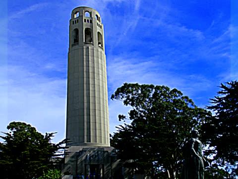 coit tower 1 - pal - 10 saniyeden daha kısa stok videoları ve detay görüntü çekimi