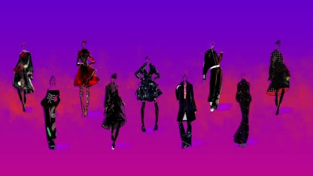 滑走路上のファッションモデル。 - 若者文化点の映像素材/bロール