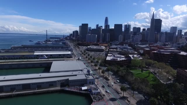 AERIAL VIDEO OF THE SAN FRANCISCO WATERFRONT