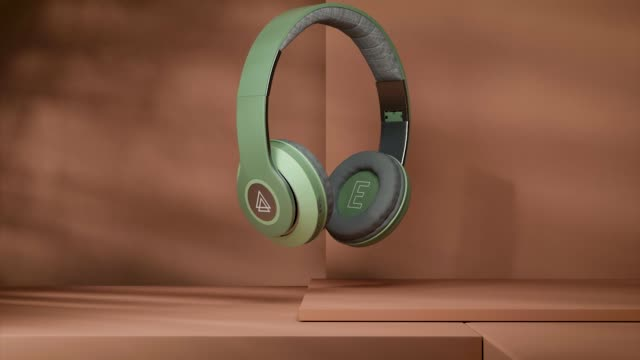 GREEN AUDIOPHONES IN ANIMATION