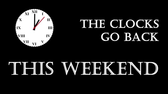 0 A short animated video reminding that clocks go back this weekend daylight savings stock videos & royalty-free footage