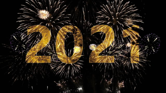 2021 Happy New Year 2021 happy new year 2021 stock videos & royalty-free footage