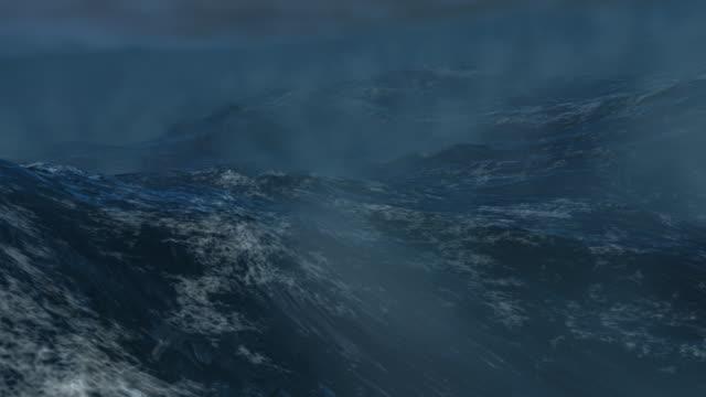 tempête en mer/море шторм-петля-файл - кораблекрушение стоковые видео и кадры b-roll
