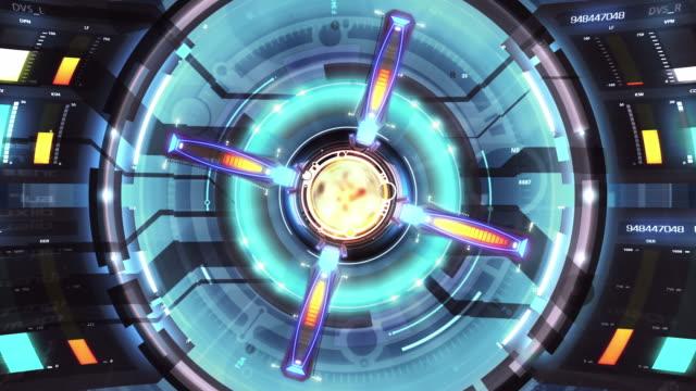 schermo hd a089 - reattore nucleare video stock e b–roll