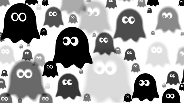 GHOST : (LOOP) digital animation based on an icon. created exclusively for iStockphoto. ghost icon stock videos & royalty-free footage