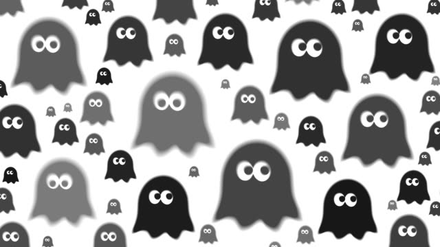 GHOST : (TRANSITION) digital animation based on an icon. created exclusively for iStockphoto. ghost icon stock videos & royalty-free footage