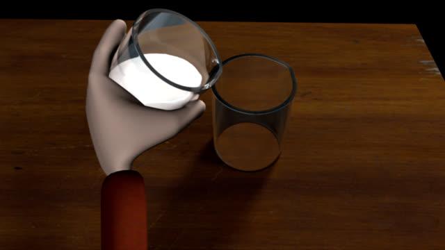 milch und tofu - quark stock-videos und b-roll-filmmaterial