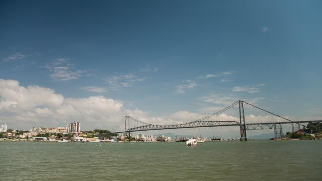 sts_fln_054 hercilio luz bridge - tilt down stock videos & royalty-free footage