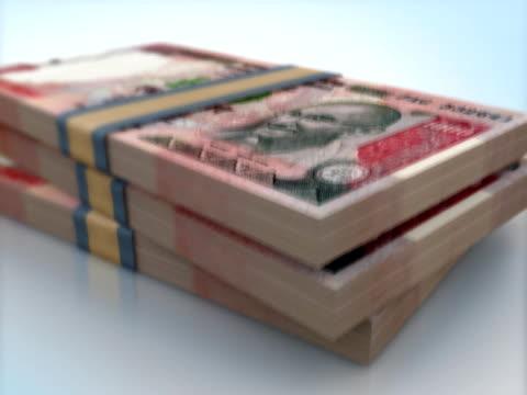 INDIA 1000 RUPEE BANK NOTES PACKS FALLING video