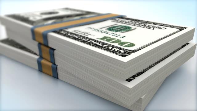 AMERICAN 100 DOLLAR BANK NOTES PACKS FALLING (HI-DEF) video